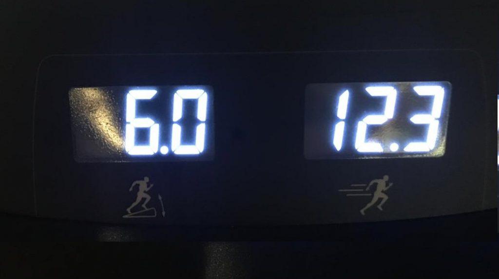 Pendiente velocidad cinta correr