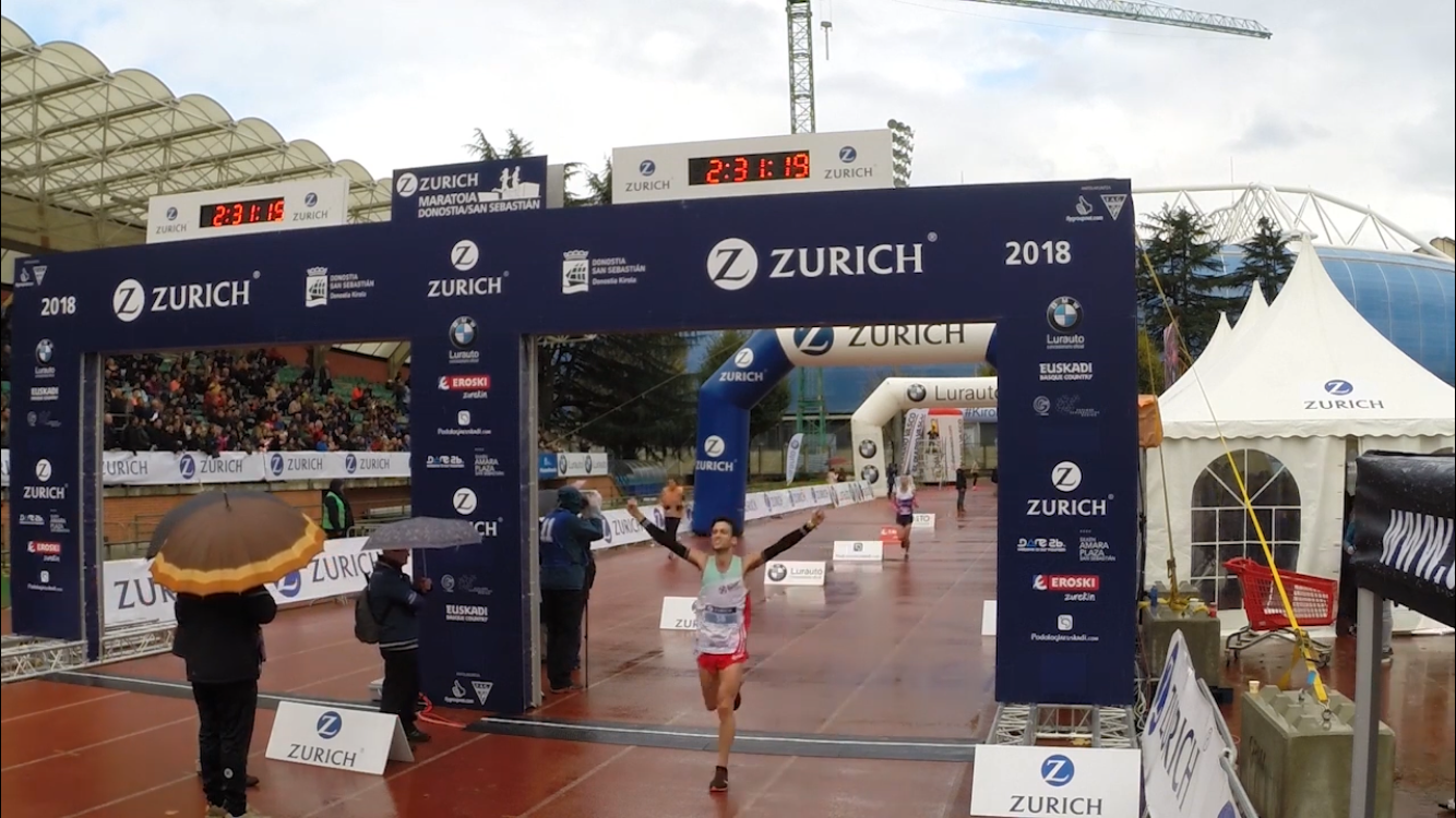LLegada a meta Maraton Donostia