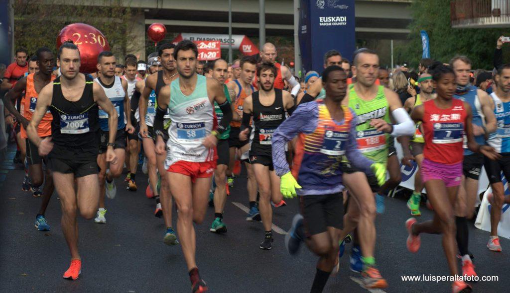 Salida maratón donostia 2018
