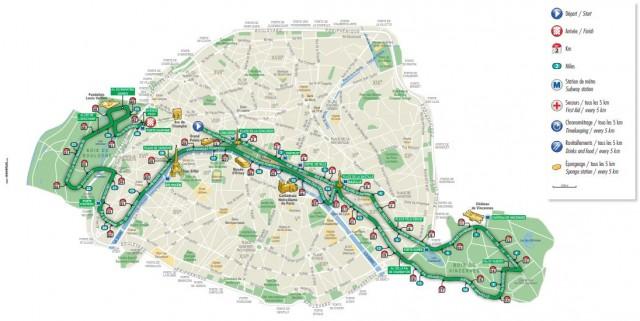 Recorrido Maraton París